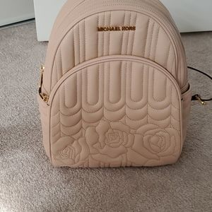 Michael kors rose quilted backpack
